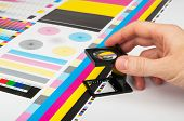 foto of check  - CMYK color check on a printed paper - JPG