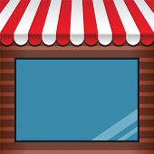 foto of awning  - storefront with red - JPG