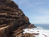 picture of shoreline  - Rocky shoreline at Cape of Good Hope South Africa - JPG