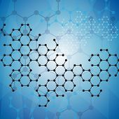 stock photo of mathematics  - Abstract molecules medical background - JPG