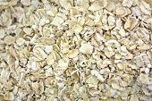 stock photo of oats  - Old Fashioned Oats Background - JPG