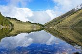 stock photo of swales  - Delightful reflexion of the blue sky in water - JPG