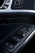 stock photo of console-mirror  - Car Door Buttons - JPG