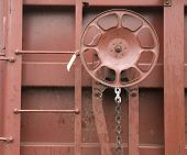 Railroad Boxcar Hand Brake Adjustment Wheel Cargo Transporter