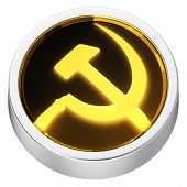 foto of communist symbol  - Socialism symbol round shape application icon 3d - JPG