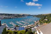 foto of dartmouth  - Boats and yachts in Dartmouth harbour Devon on the River Dart Kingswear side