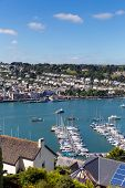 image of dartmouth  - Boats and yachts in Dartmouth harbour Devon on the River Dart Kingswear side