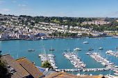 stock photo of dartmouth  - Boats and yachts in Dartmouth harbour Devon on the River Dart Kingswear side