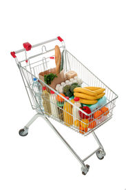 stock photo of grocery cart  - shopping cart - JPG