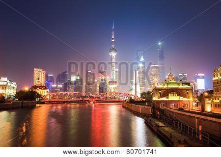 Beautiful Shanghai Scenery At Night