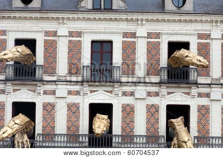 House of magic beside Chateau Blois. Loire valley France