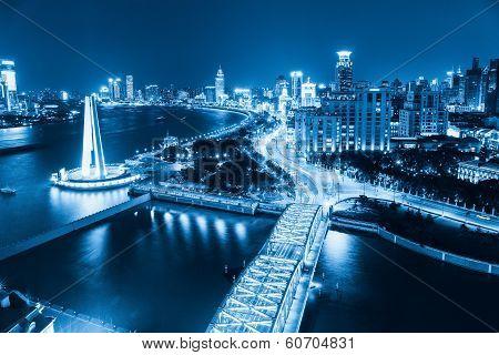 Shanghai The Bund At Night