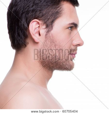 Profile Portrait Of Handsome Young Man.