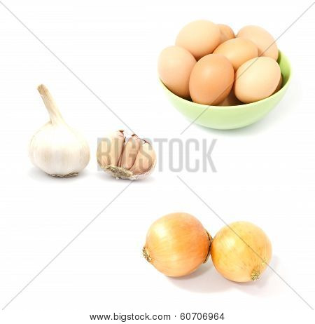 Fresh Food On White Background