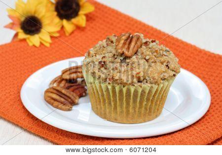 One Pumpkin Pecan Muffin