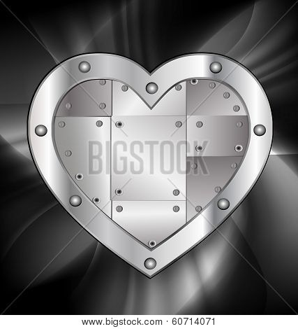 large metal heart