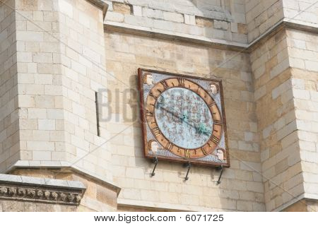Clock Of The Cathedral In Leon