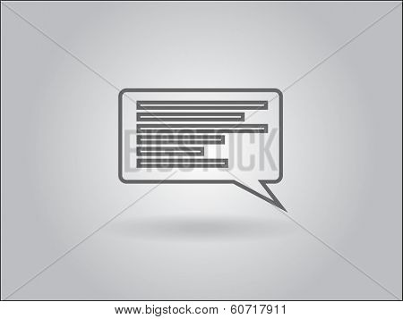 Flat icon of a communication bubble