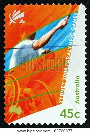 Postage Stamp Australia 2000 Wheelchair Tennis, Sydney