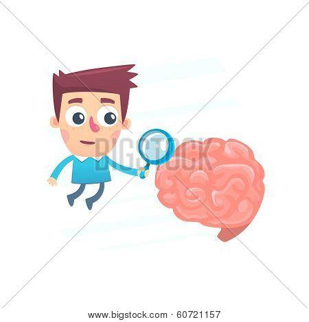 thorough study of the brain