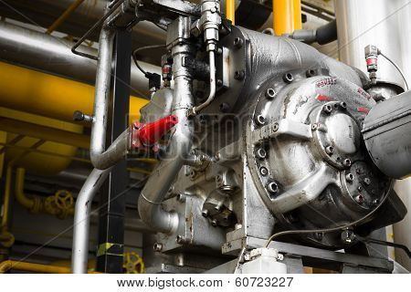 An Engine Of Industrial Equipment