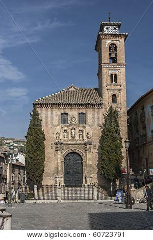 Church Of St. Ana And St. Gil. Mudejar Church, Granada, Andalusia, Spain