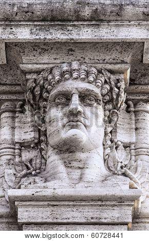 Emperor Nero Head Statue