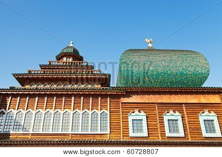 Windows Of Great Wooden Palace In Kolomenskoe