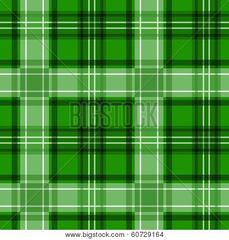 Green tartan texture. Vector seamless pattern.