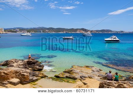 MALLORCA - JUNE 2: Cala Fornells View in Paguera Village in Majorca, Spain on June 2, 2014 in Majorc