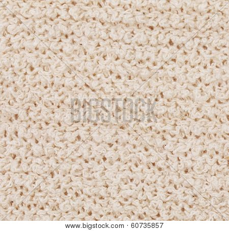 Background of knitted fabric texture.