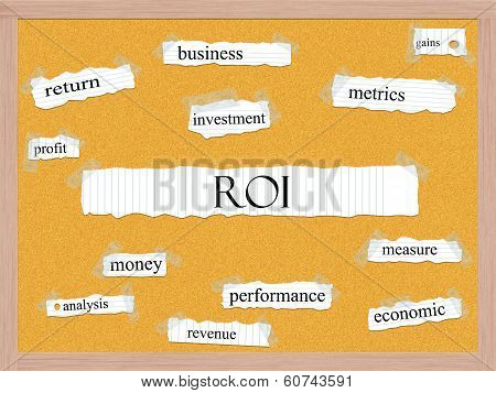 Roi Corkboard Word Concept