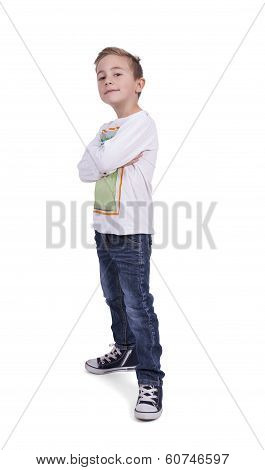 Portrait of a elementary boy with arms crossed