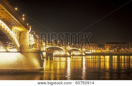 Margaret Bridge At Night.