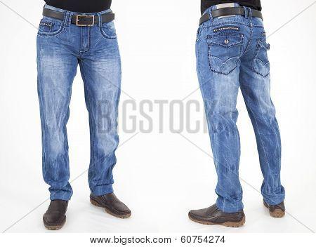 men in jeans trousers