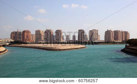 Skyline Of Porto Arabia. Doha