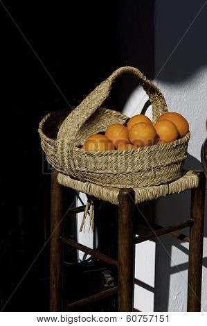 Oranges And Basket