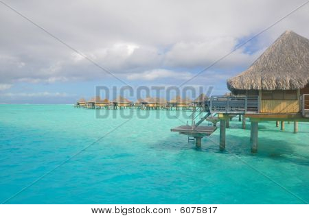 Overwater Bungalows over the Lagoon