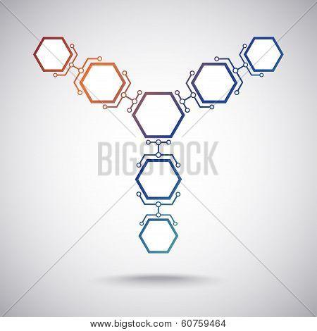 Communication Of Seven Hexagonal Cells