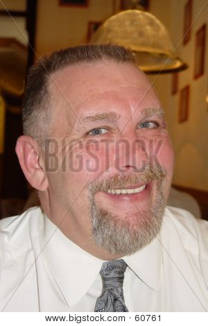 Happy Man Wearing Business Attire