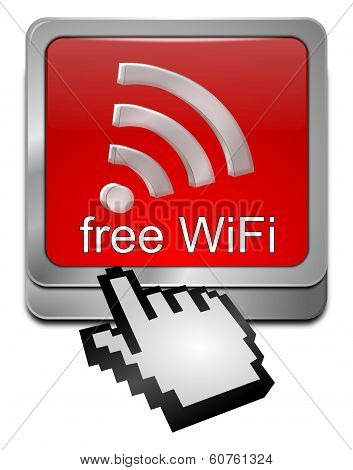 free wireless WiFi Wlan button with cursor