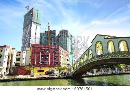 Jambatan Old Bus Station. Melaka Malaysia