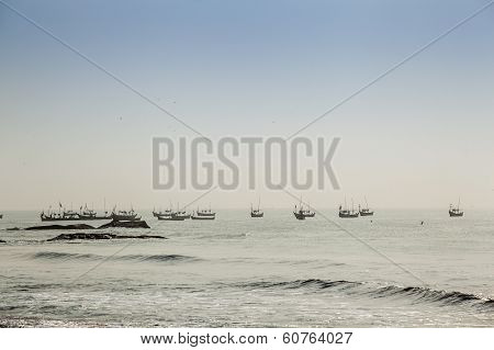 Multitude Of Fishermen's Traditional Boats
