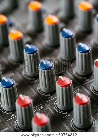 Recording Studio Mixer Knobs