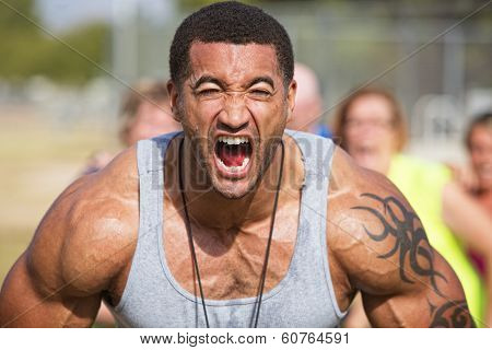Screaming Fitness Instructor