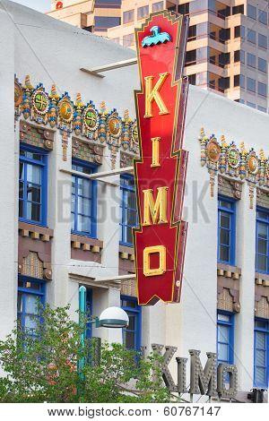 Route 66: Kimo Theatre and Neon Sign, Albuquerque, NM