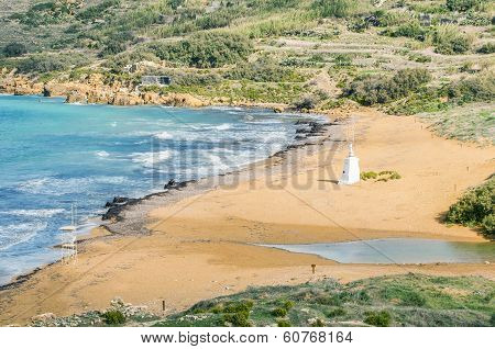 Ramla Beach On The Northern Side Of Gozo, Malta