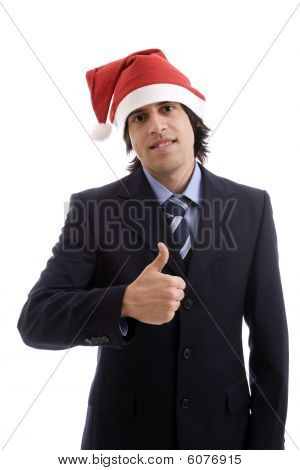 Businessman With Christmas Hat