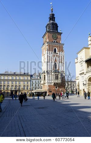 Tower Hall On The Market Square, Krakow