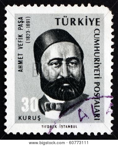 Postage Stamp Turkey 1965 Ahmet Vefik Pasha, Playwright
